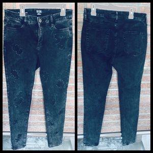 Black Rose acid wash Skinny Jeans